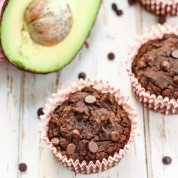 Triple Chocolate Avocado Muffins [ grain-free, dairy-free ]
