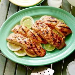 Triple Citrus Glazed Grilled Salmon