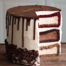 Triple-Decker Cheesecake Tower Recipe by Tasty