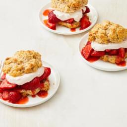 Triple Strawberry Shortcakes