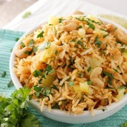 Tropical Coconut Pineapple Cashew Rice