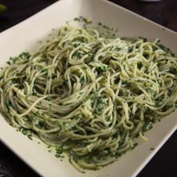 True Ligurian Pesto with Spaghetti