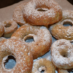 Tuesday's Treat: Banana Doughnuts with Powdered Sugar
