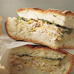 Tuna and Artichoke Cooler-Pressed Sandwiches