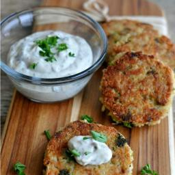 Tuna and Broccoli Quinoa Patties with Lemon Caper Sauce