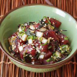 Tuna Poke (Hawaiian Raw-Tuna Salad) Recipe