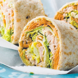 Tuna & salad pinwheels