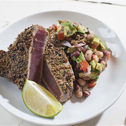 Tuna Steak with Black Eyed Bean Salsa