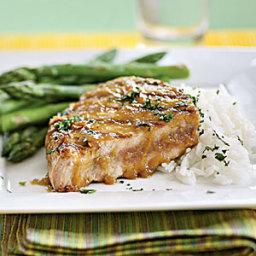 Tuna Steaks with Wasabi-Ginger Glaze