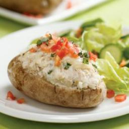 Tuna, Artichoke and Basil Stuffed Potatoes