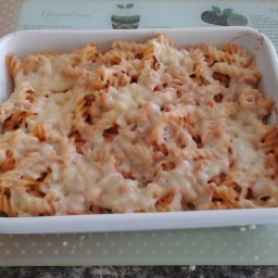 Tuna Bean and Cheese Pasta Bake
