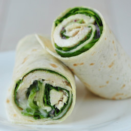 Turkey and Cucumber Salad Wrap