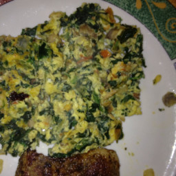 Turkey and Spinach Egg Scramble