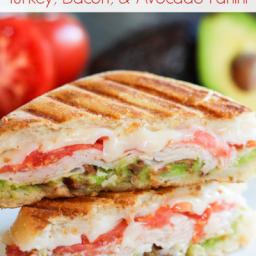 Turkey, Bacon and Avocado Panini