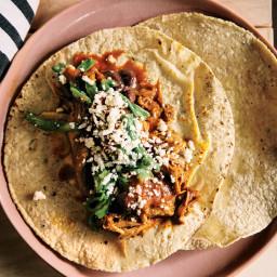 Turkey Barbacoa Tacos with Black Beans