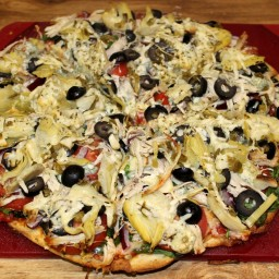 Turkey Blue Cheese Pizza