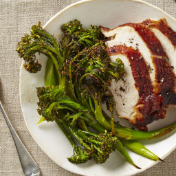Turkey Breast with Roasted Broccolini