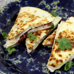 Turkey, Brie, and Cranberry Quesadilla
