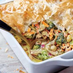 Turkey, Broccoli, and Phyllo Pie