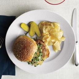 Turkey Burgers With Creamy Romaine Slaw