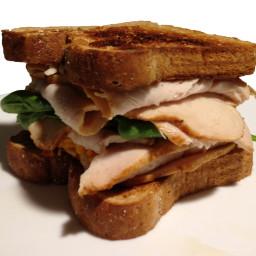Turkey Cheddar Spinach Sandwich