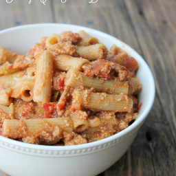 Turkey Chili Pasta Bake