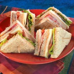 Turkey Club Sandwiches with the Works