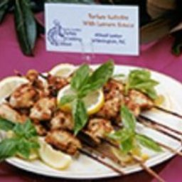 Turkey Kebabs with Lemon Sauce