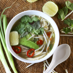 Turkey pho soup