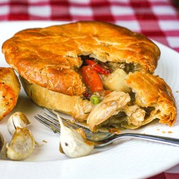 Turkey Pot Pie. An old fashioned leftover turkey classic!