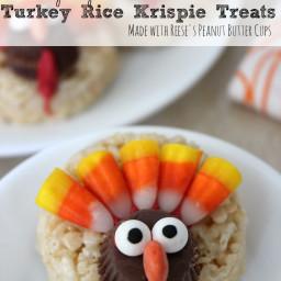 Turkey Rice Krispie Treats | Fun Thanksgiving Dessert!