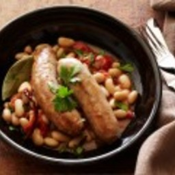 Turkey Sausages with Spicy Beans: Sausages with Fagioli All'uccelletta