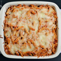 Turkey Spinach Pasta Bake