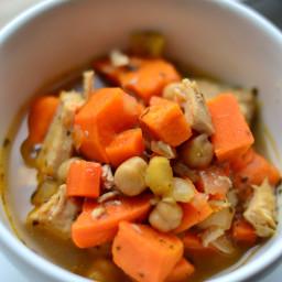 Turkey,  Sweet Potato and Garbanzo Soup