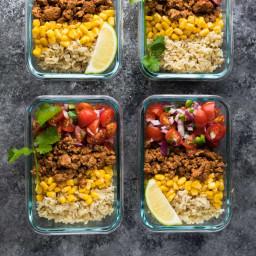 Turkey Taco Lunch Bowls (Meal Prep)