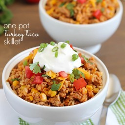 Turkey Taco Skillet {one pot dish}