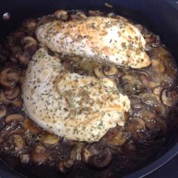 Turkey Tenderloin W/tarragon Mushroom Gravy