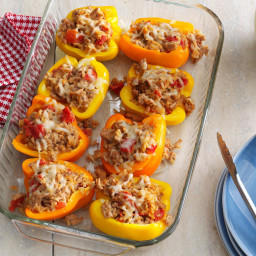 Turkey-Thyme Stuffed Peppers