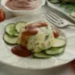 Turkey Vegetable Flan with Bloody Mary Sauce