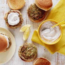 Turkey Zucchini Burgers with Yogurt-Sumac Sauce