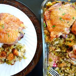 turkey  and  stuffing casserole