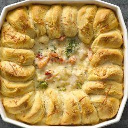 Turkey and Veggie Alfredo Pot Pie