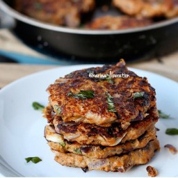 Turkey, Parmesan and Herb Sweet Potato Burgers