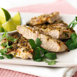 Turkey Tenderloins with Cilantro Pesto