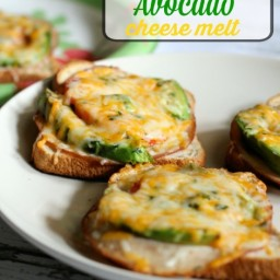 Turkey Tomato Avocado Cheese Melt (she: Jen from PinkWhen)