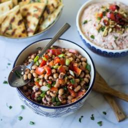 Turkish Black Eyed Pea Salad