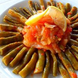 Turkish Green Beans In Olive Oil - Zeytinyağlı Taze Fasulye