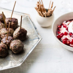 Turkish Spiced Meatballs with Pomegranate Yogurt Sauce