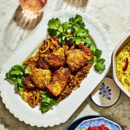 Turmeric Chicken with Caramelized Onions and Saffron