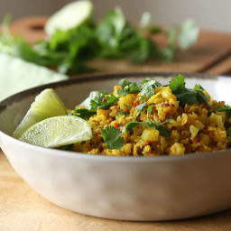 Turmeric Lime Cauliflower Rice